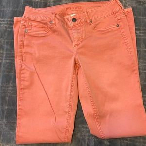 Maurices women's jegging pants...coral pink color